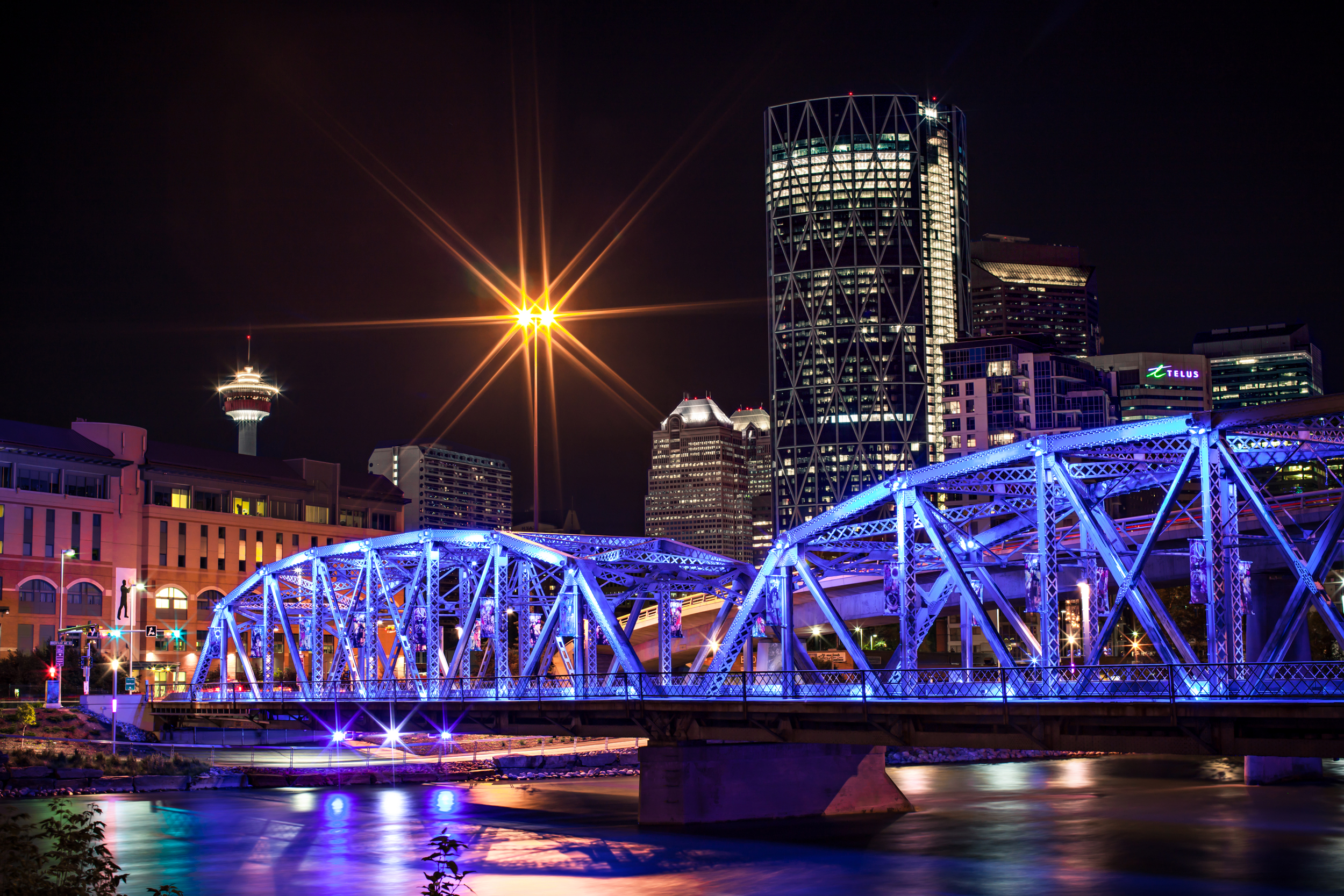 Calgary, Alberta at night