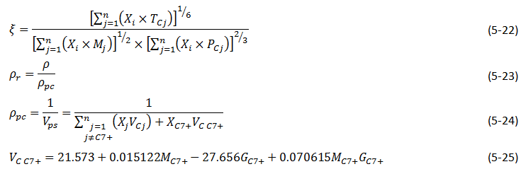 Equation 5-22 to 5-25