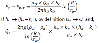 Super critical flow formula with Darcy Equation